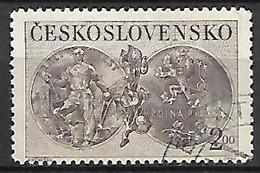 TCHECOSLOVAQUIE     -    1950 .  Y&T N°  529  Oblitéré . Médaille - Used Stamps