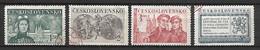 TCHECOSLOVAQUIE     -    1950 .  Y&T N°  528 à 531 Oblitérés    Série Complète. - Used Stamps