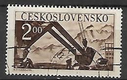 TCHECOSLOVAQUIE     -    1950 .  Y&T N°  533  Oblitéré.  Excavateur - Used Stamps