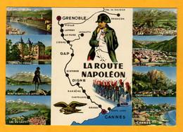 La Route Napoléon De Cannes à Grenoble   8 Vues      Edt André      N° - Maps