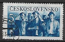 TCHECOSLOVAQUIE     -    1950 .  Y&T N°  535  Oblitéré.    Travailleurs - Used Stamps
