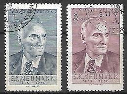 TCHECOSLOVAQUIE     -    1950 .  Y&T N°  536 / 537 Oblitérés.   Le Poète S.K. Neumann - Used Stamps