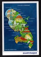 """Carte Géographique""""Martinique"""" Grand-Rivière, Lorrain, Marigot, Ste-Marie, Precheur, Le Carbet, Case Pilote, Marin, Vauc - Maps"""