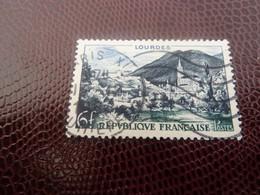 LOURDES - 6f. - Bleu-noir, Outremer Et Olive - Oblitéré - 1954 - - Used Stamps