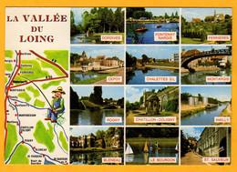La Vallée Du Loing  De St Sauveur En Puisaye à Dordives        Edt  Valoire       N°  577 - Maps