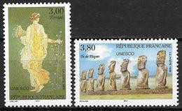 France 1998 Service N° 118/119 Neufs UNESCO 20% De La Cote - Neufs