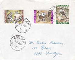 Gelopen Brief Van 1972 Met Reeks 1243 - 45 Campagne Tegen De HONGER  Gestempeld BISSEGEM - Lettres & Documents