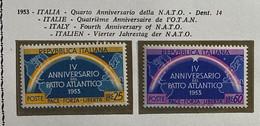 ITALIA REPUBBLICA 1953 PATTO ATLANTICO NATO  MNH **  PERFETTO  SASSONE S.159 N.723/24 - 1946-60: Ungebraucht