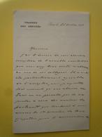 2 X Autographes Louis De MARCHEGAY (1869-1933) Député De VENDEE - CIMENTS PORTLAND INDOCHINE - Autographs