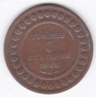 PROTECTORAT FRANCAIS. 5 CENTIMES 1908 A. BRONZE - Tunisia