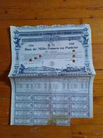 CHEMIN DE FER DE PARIS A ORLEANS - BON DE 1 000 FRS 6% - 1934 /1949 - Railway & Tramway