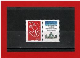 PERSONNALISE- 2005 - N°3741Aa - Neuf** -Marianne DE LAMOUCHE AVEC VIGNETTE 78è CONGRES F.F.A.P - Y&T- COTE : 8 EUROS - Personalisiert