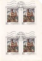 Czechoslovak Sheet 1973 Mi 2173, Art, Painting Martin Benka,Yv 1908, Shared The Corner-top Right, Stamped On Order - Unused Stamps