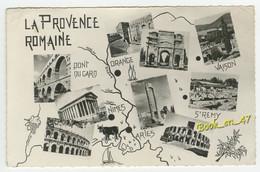 {21541} La Provence Romaine , Carte Et Multivues - Maps