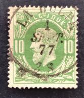 Leopold II 30 - 10c Gestempeld DC LA HULPE - 1869-1883 Leopoldo II