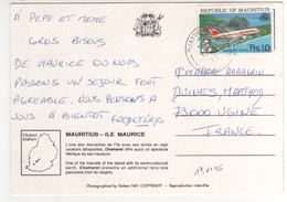 """Beau Timbre , Stamp  """" Avion : Boeing 767 """" Sur Cp , Carte  Postcard Du 13/06/1996 - Mauritius (1968-...)"""