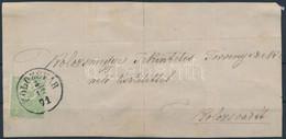 1871 Kőnyomat 3kr Szép, élénk Színű, Jó Minőségű Bélyeg Hajtott, Bélyegragasztóval Több Helyen Megerősített Levél Előlap - Unclassified