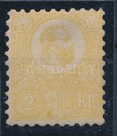 * 1871 Kőnyomat 2kr Sárga Mi 1b (290.000) Certificate Barabássy. (javított Fogazás / Repaired Perf.) - Unclassified