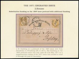 """1871 1869-es Német Nyelvű (már érvénytelen) 2kr Díjjegyes Levelezőlap Réznyomat 2kr Bérmentesítéssel """"ZSOMBOLYA"""" - Press - Unclassified"""