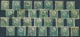 O 1871 Réznyomat 3kr 28 Db Bélyeg Sok Színváltozattal (~160.000) - Unclassified
