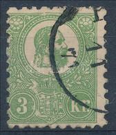 O 1871 Kőnyomat 3kr Szép Színű Bélyeg  (140.000) Sign: Richter (tűhegynyi Elvékonyodás / Small Thin) - Unclassified