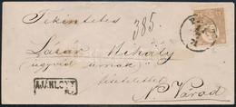 """1871 Kőnyomat 15kr Halványbarna Ajánlott Levélen (120.000) / Mi 5b On Registered Cover """"PEST"""" - """"NAGYVÁRAD AJÁNLOTT"""" - Unclassified"""