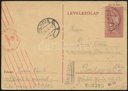 1942 Tábori Lap Munkaszolgálatostól Német Tábori Postán Feladva, Cenzúrázva, VILNIUS átmenő Bélyegzéssel Budapestre. Rit - Unclassified