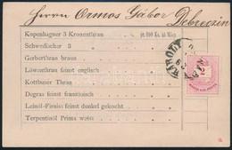 """1880 Nyomtatvány 2kr Rózsalila! Szabálytalan Vegyes Fogazással 11 1/2 : 13 : 11 1/2 : 11 1/2, """"NAGY KÁROLY"""" - """"(DEBRE)CZ - Unclassified"""