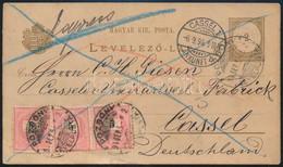 """1894.szept.5. Expressz 2kr Díjjegyes Levelezőlap 3 X 5kr Díjkiegészítéssel (17kr Tarifahelyes Bérmentesítéssel) """"POZSONY - Unclassified"""