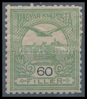 * 1904 Turul 60f (55.000) (rövid Fogak, Törés / Short Perfs., Folded) - Unclassified