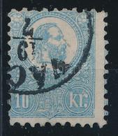 """O 1871 Kőnyomat 10kr Tejkék """"VÁC(Z)"""" (58.000) Certificate: Barabássy (pici Elvékonyodás A Bal Alsó Saroknál / Thin Paper - Unclassified"""