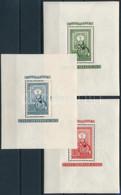 ** 1951 80 éves A Magyar Bélyeg Blokksor (51.000) (ráncok / Creases) - Unclassified
