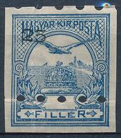 (*) 1913 Ki Nem Adott FEKVŐ Vízjeles!! Turul 25f Fogazatlan Bélyeg Látványosan Eltolódott értékjelzéssel, Nyomdai Megsem - Unclassified