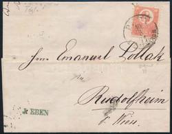 """1871 Kőnyomat 5kr Téglavörös Levélen (48.000) / Mi 3b On Cover """"PEST LIPÓTVÁROS"""" - Rudolfheim - Unclassified"""