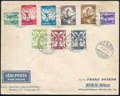 1933 Repülő Teljes Sor A Bécsi WIPA-ra Küldött Levélen - Unclassified