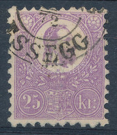 """O 1871 Kőnyomat 25kr Jó Minőségű, Rendkívül Szép Színű Bélyeg (45.000) """"ESSEGG"""" Sign: Brüllert - Unclassified"""