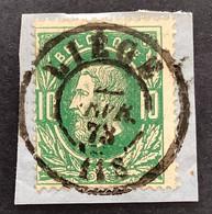 Leopold II 30 - 10c Gestempeld DC LIEGE - 1869-1883 Leopoldo II