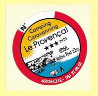AUTOCOLLANT STICKER - CAMPING CARAVANNING CARAVANING LE PROVENÇAL - 07150 VALLON PONT D'ARC ARDÈCHE - Stickers
