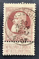Leopold II Grove Baard 77 - 35c Gestempeld EC ANSEGHEM - 1905 Barba Grossa
