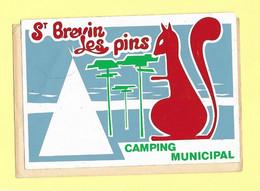 AUTOCOLLANT STICKER - ST BREVIN LES PINS - CAMPING MUNICIPAL - Stickers