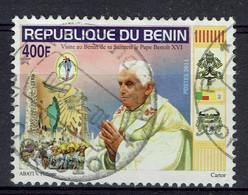 Bénin (Dahomey), 400f, Visite Du Pape Benoit XVI, 2011 Obl, TB - Benin – Dahomey (1960-...)