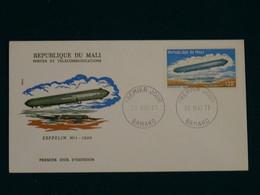 Mali 1977 History Of The Zeppelin FDC VF - Mali (1959-...)