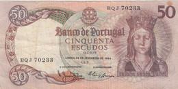 Portugal #168a, 50 Escudos 1964 Banknote - Portugal