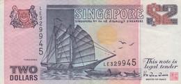 Singapore #28, 2 Dollar 1992 Banknote - Singapore