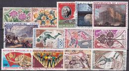 CG-20 – CONGO – 1961-74 – AIRMAIL – USED LOT - Y&T # 2→89 - CV 16 € - Oblitérés
