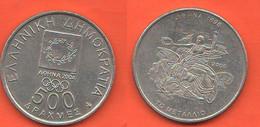 Grecia 500 Dracme Drachmes 2000 Greece Olympics  Typological & Nickel Coin - Greece
