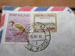 Timbre Oman Oiseau Alectoris Melanotephala + Shinas 1809 (1982) - Oman