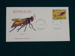 Mali 1977 Insects FDC VF - Mali (1959-...)