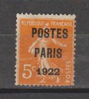 Postes Paris 1922 - 1893-1947