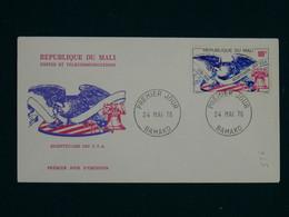 Mali 1976 American Bicentennial FDC VF - Mali (1959-...)